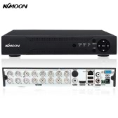 KKmoon® 16CH Channel Full 1080N/720P AHD DVR HVR NVR P2P Cloud Network Onvif Digital Video Recorder Hard Disk support Android/iOS APP Free CMS Browser View Motion Detection Email Alarm PTZ for 2000TVL CCTV Security Camera Surveillance System
