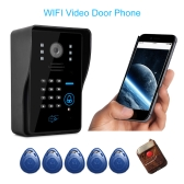 WiFi Video Door Phone IR Night Vision Video Record Home Security Rainproof