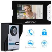 "7"" Video Door Phone TFT LCD Screen  Unlock IR Night Vision Rainproof Home Security"