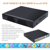 16CH 960H/D1 CCTV DVR Video Recorder Standalone Onvif H.264 HD Motion Detection PTZ Control