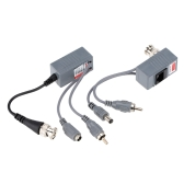 CCTV Camera Audio Video Power Balun Transceiver BNC UTP RJ45 with Audio Video and Power over CAT5/5E/6 Cable