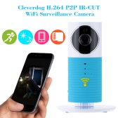 Cleverdog H.264 Wireless WiFi IP Camera with IR-CUT Motion Detection Support 32G TF Card Home Surveillance CCTV Security