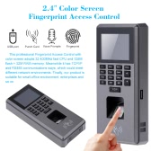 "Biometric Fingerprint & Keypad Door Access Control And Time Attendance Terminal Color Screen 2.4"" TFT USB LCD"