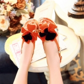 Fashion Summer Women Flat Sandal Slingback Shoes Flats Orange