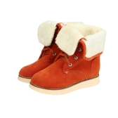 New Fashion Women Snow Boots Faux Suede Fur Tied Fastening Round Toe Fold Down Casual Boots