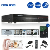 OWSOO 4CH Channel Full 960H/D1 H.264 HD P2P Cloud Network DVR Digital Video Recorder + 1TB HDD support Audio Record Phone Control Motion Detection Email Alarm PTZ for CCTV Security Camera Surveillance System
