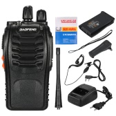 BaoFeng® 16CH FM UHF 400-470MHz Talkie Walkie Transceiver 2-way Radio Portable Handheld Interphone Long Distance 1500mah Battery Flashlight