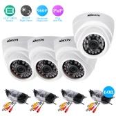 KKmoon  4*960P AHD Dome IR CCTV Camera + 4*60ft Surveillance Cable