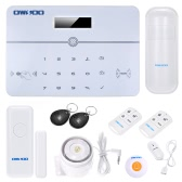 OWSOO 433MHz Wireless Auto-dial PSTN LCD Display Voice Prompt Phone Remote Control Home Burglar Security Alarm System