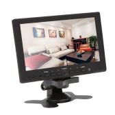 """7"""" TFT LED HD Color Monitor PC/AV HD VGA Input Receiver with Earphone Jack PAL/NTSC Video Displayer for CCTV Surveillance"""
