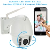 KKmoon H.264 HD 1080P 2.8-12mm Auto-focus PTZ Wireless WiFi IP Camera Security CCTV Camera Home Surveillance