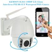 KKmoon H.264 HD 1080P 2.8-12mm Auto-focus PTZ Wireless WiFi IP Camera Security CCTV Camera Home Surveillance