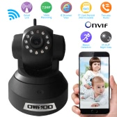 OWSOO HD H.264 720P Surveillance IP Camera Wireless Wifi CCTV Security Pan Tilt 2-way Audio Phone Control Night View Support TF Card Onvif Motion Detection Email Alarm TP-C617BT