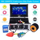 KKmoon 30M Underwater Fish Finder HD 1200TVL Camera for Ice/Sea/River Fishing with 7in LCD Monitor