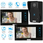 "KKmoon 7"" Video Door Phone Intercome Doorbell Touch Button Remote Unlock Night Vision Rainproof Security CCTV Camera Home Surveillance TP02K12"