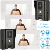 "KKmoon 7"" Video Door Phone Intercome Doorbell Remote Unlock Night Vision Rainproof Security CCTV Camera Home Surveillance TP01H-23"