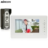 "KKmoon 7"" Wired Video Door Phone System Visual Intercom Doorbell with 1*800x480 Indoor Monitor + 1*700TVL Outdoor Camera support Unlock Infrared Night View Rainproof for Home Surveillance"