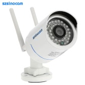 szsinocam Full HD 2.0MP Megapixels 1080P 2.4G/5.8G Wireless Wifi Camera CCTV Surveillance Security P2P Network IP Cloud Indoor Outdoor Bullet Camera support Onvif2.4 Weatherproof IR-CUT Filter Infrared Night View Motion Detection Email Alert Android/iOS APP 36LEDs