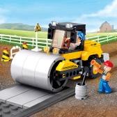 Sluban M38-B0539 171pcs Single Steel-Wheeled Street Roller Building Block Construction Toy for Kids
