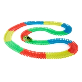 192PCS 45mm Twister Tracks Flexible Assembly Neon Glow in Darkness Race Track Blocks for Kids