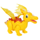Cute Cartoon Walking Dinosaur Electric Dinosaur Light Up Toy Figure with Sounds & LED & Projector