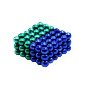 5 mm Magic Beats Magnetic Balls Puzzle Spheres Neodymium Iron DIY Educational Toys 108 Pieces Green & Blue