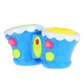 Multifunctional Baby Toy Drum Musical Double Pat Drum Flash Beat Drum Intelligence Educational Toy