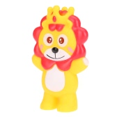 Cute Squeaky Toy Sounding Toy Cartoon Lion Animal Bath Toy Soft Rubber for Baby Water Fun