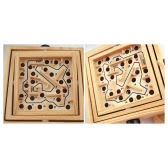 Wooden Labyrinth Puzzle Maze Game Wooden Labyrinth Balance Board Educational Skill Improvement Wood Toys for Kids