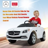 Rastar Kids 6V Electric Ride On Toy Car Mercedes-Benz SLK Electric Four Wheel Vehicle Parent Remote Control White
