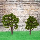 Handcrafted Tree Model Architectural Model Train Layout Garden Scenery Scene Wargame Landscape 10 Pieces