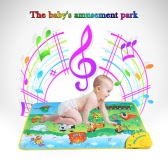 Colorful Musical Learning Mat Animal Farm Flash Music Carpet Blanket Touch Toy for Baby Kids 71 * 49 CM