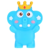 Cute Squeaky Toy Sounding Toy Cartoon Elephant Animal Bath Toy Soft Rubber for Baby Water Fun