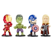 Funko POP Marvel Avengers 2 Movie Action Figure Set Iron Man Thor Hulk and Captain America