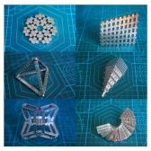 5mm Neodymium Magnetic Cube DIY Puzzle Set 125 Pieces Gold