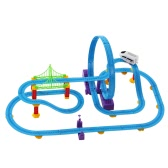 SHU YE 661J-1 82PCS Twister Tracks Flexible Assembly Track Car Train Locomotive for Kids
