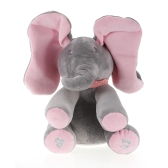 Elephant Plush Toy Peekaboo Music Animals Toy Play Hide and Seek Electric Toys Baby Cuddle Doll for Kids