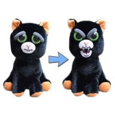 Feisty Pets Katy Cobweb Adorable Plush Stuffed Black Cat Turns Feisty with a Squeeze