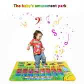 Colorful Spanish Musical Learning Mat Alphabet Flash Music Carpet Blanket Children Developing Rug Four Learning Modes with Music Sound Educational Toy 74 * 49 CM