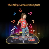 Musical Jazz Drum Mat Jazz Drum Music Blanket Carpet Educational Toy for Baby Kids 72 * 65 CM