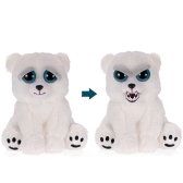 Feisty Pets Karl the Snarl Adorable Plush Stuffed Polar Bear Turns Feisty with a Squeeze