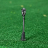 20 Pieces Metal Park Courtyard Lanterns Streets Lamp Modelmaking Hexagonal Single-head LED Lights Lamppost Model Street Lighting 3V DC
