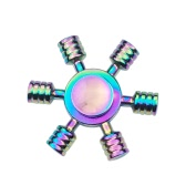 6 Arms Clubs Fidget Hand Finger Tri Stress Reducer Metal Spinner for Fidgeters Anxiety Autism Focus Children Adults Gift Fast Spin Snowflake Design