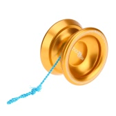 Professional Magic Yoyo T8 Aluminum Alloy Metal Yoyo 8 Ball KK Bearing with String for Kids Lake Blue