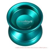 Ametoys V4 Professional Magic Yoyo High-speed Aluminum Alloy Yo-yo CNC lathe KK Bearing with Spinning String for Boys Girls Children Kids Green