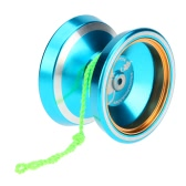 Professional Magic Yoyo M001 Aluminum Alloy Yo-yo CNC lathe T Bearing with Spinning String for Boys Girls Children Kids Blue