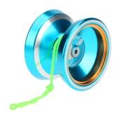 Professional Magic Yoyo M001 Aluminum Alloy Yo-yo CNC lathe T Bearing with Spinning String for Boys Girls Children Kids Blue