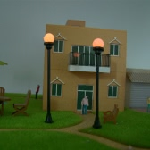 Model Garden Lamps (Single Head) 1:100