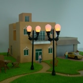 Model Garden Lamps (Double Heads) 1:100