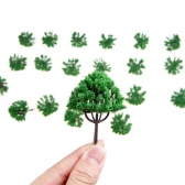 20pcs HO Scale Model Trees Building Park Street Layout Railroad Train